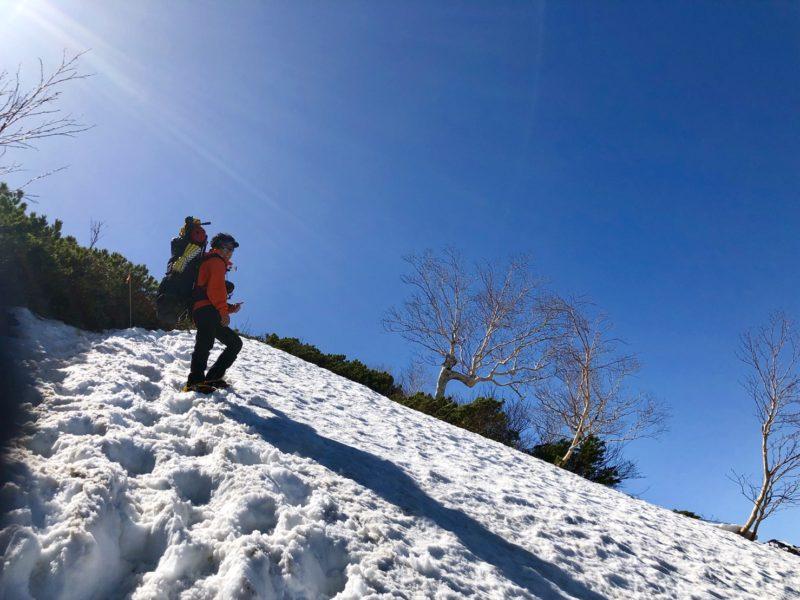 合戦尾根 残雪