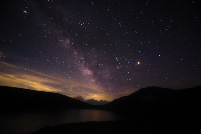 白馬大池山荘の星空