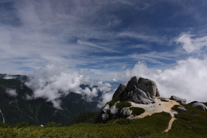 空木岳 駒石