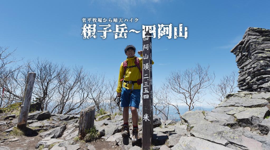 【根子岳・四阿山】晴天に恵まれた快適ハイキング♪ 2017/06/11