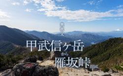 甲武信ヶ岳|西沢渓谷から雁坂峠周回